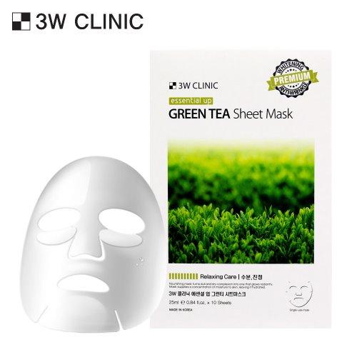 Essential Up Green Tea Sheet Mask 10ea