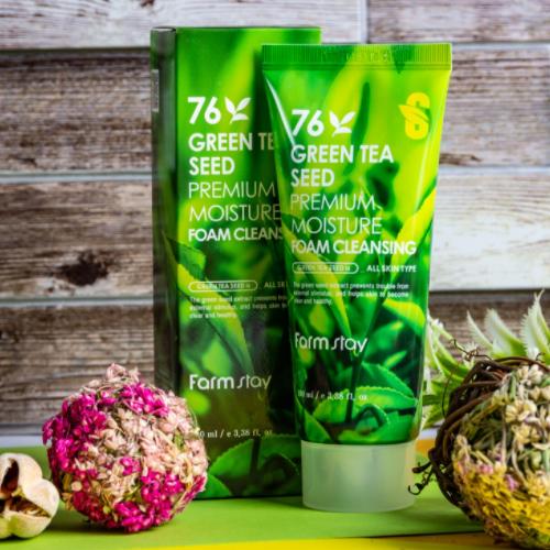 76 Green Tea Seed Premium Moisture Foam Cleansing 100ml