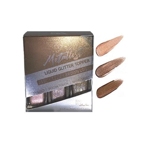 Metallist Liquid Glitter Topper #2 See-through Brown Look