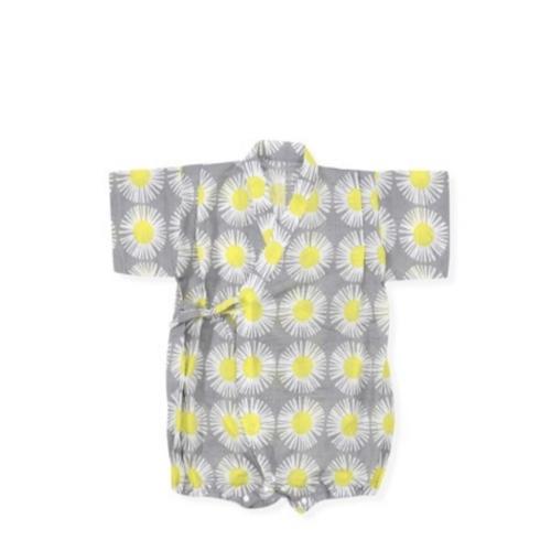 Tie-Side Onesie - Sunflower (Gray), L Size