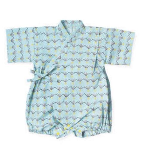 Tie-Side Onesie - Blue Pattern, L Size