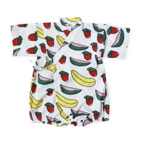 Tie-Side Onesie - Fruits Basket, M Size