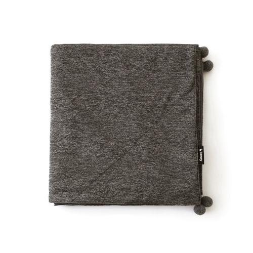 Large Blanket - Brown with Pompoms