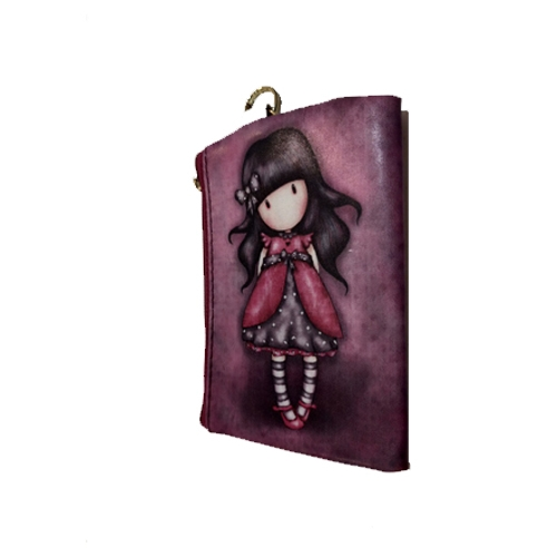 Little Girls Wallet with Keychain - Leah