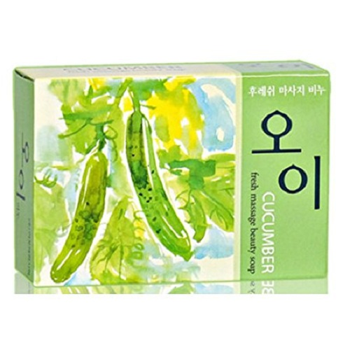 Cucumber Fresh Massage Beauty Soap 100g