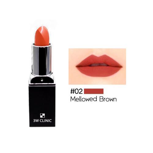 Aqua Matte Lip Stick #02 Mellowed Brown