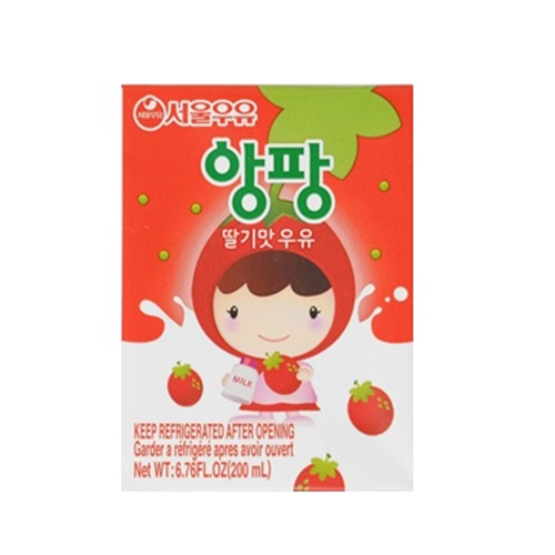 UHT Aseptic Angpang Strawberry milk 200ml