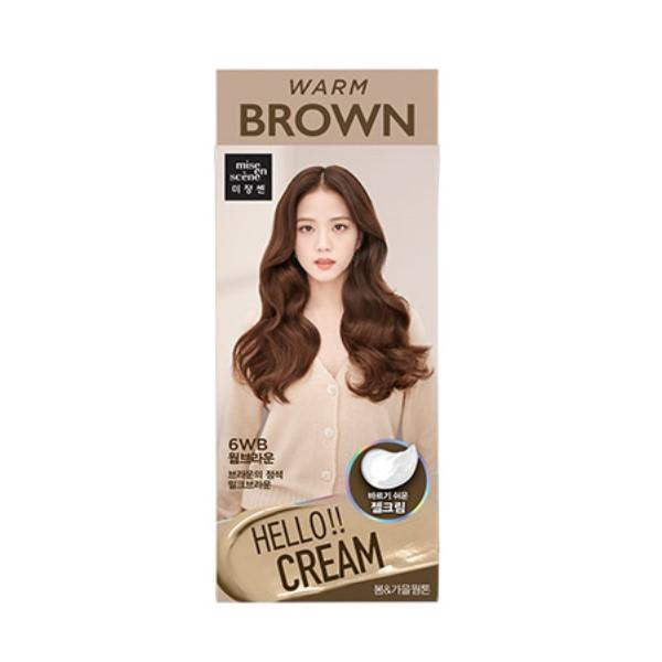 Hello Cream Hair Dye (Warm Brown)
